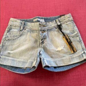 Express Jean Shorts Blue Denim
